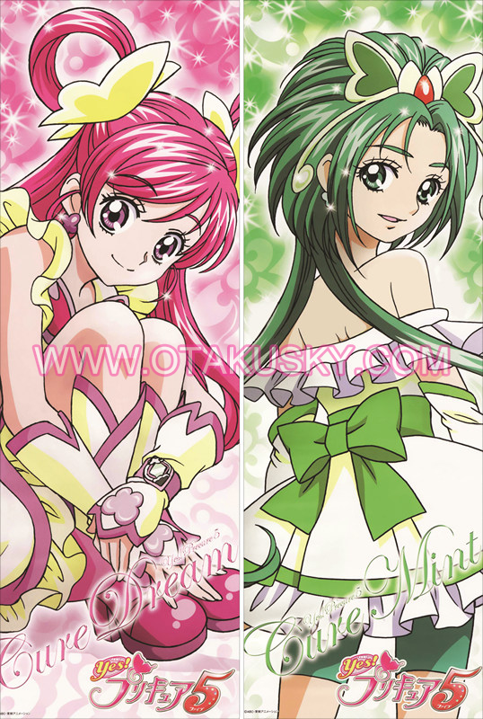 Pretty Cure Anime Girls Body Pillow Case 15
