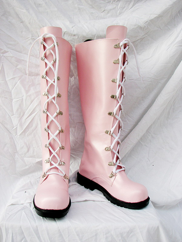 Pink Lolita Cosplay Boots